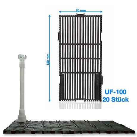 Happet Bodenfilter Set UF-100 70x28 cm