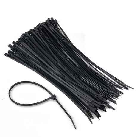100 Stück schwarze Kabelbinder Industriequalität 282x4,8 mm