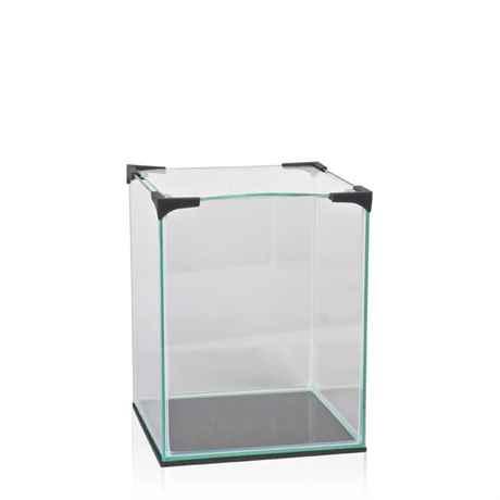 Mini Glas Aquarium mit Abdeckscheibe und Schaumstoff Unterlage