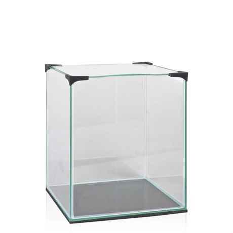20 Liter Mini Glasbecken mit Abdeckscheibe