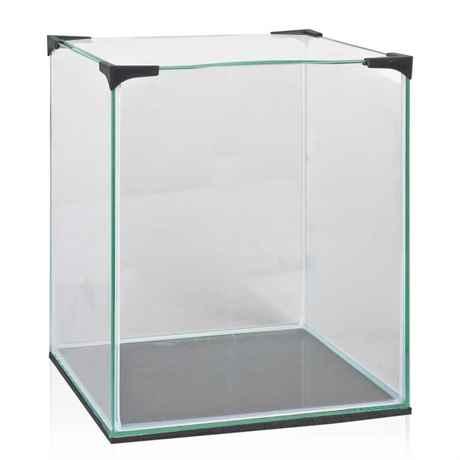 30 Liter Nano Glasaquarium mit geschwungener Abdeckscheibe