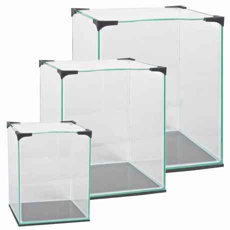 Nano CUBE Glasbecken Serie mit Abdeckung, 10 20 und 30 Liter