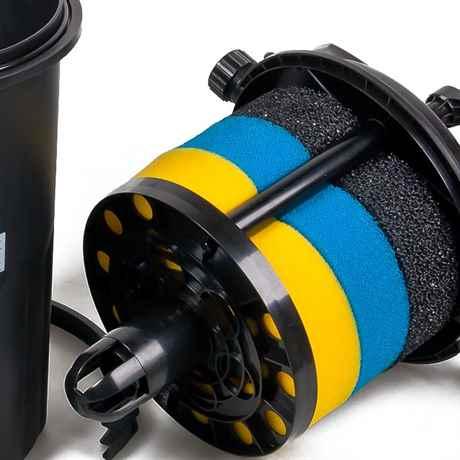 Die Filterschwämme und die Reinigungs-Funktion ODF-15000
