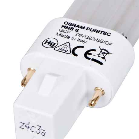 Detail des Sockel G23 UV-C Ersatzlampe