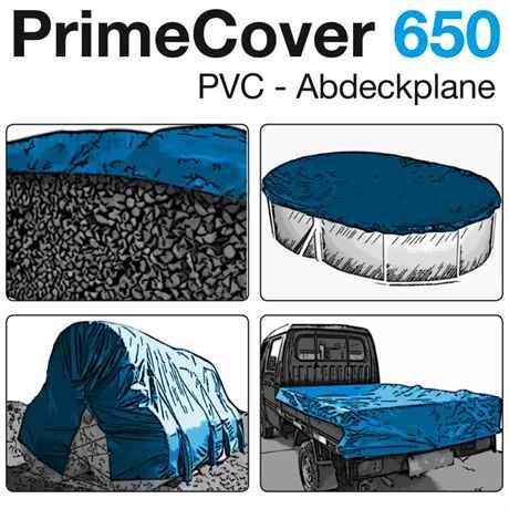 PVC Plane 650 gr/m² weiss, grau, blau oder grün
