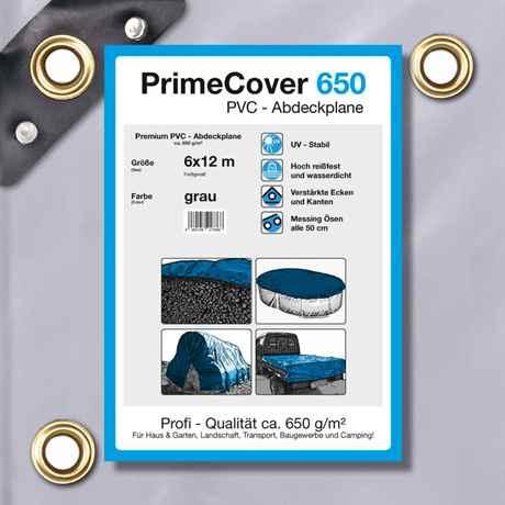 PVC Plane grau 650 g/m² 6 x 12 m (72m²)