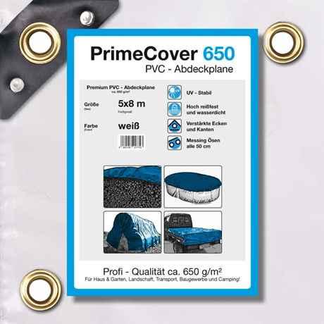 PVC Plane weiss 650 g/m² 5 x 5 m (40m²)