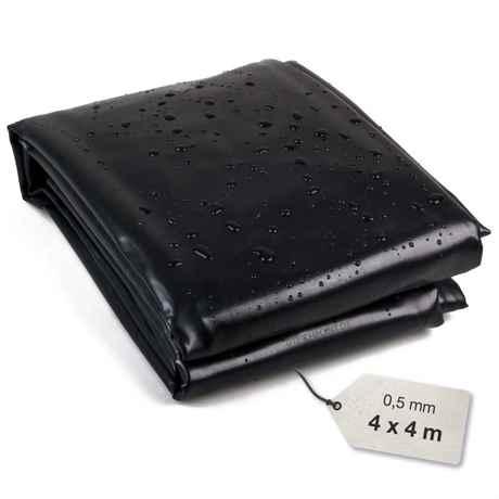 PVC Teichfolie schwarz 0,5 mm 4x4 meter