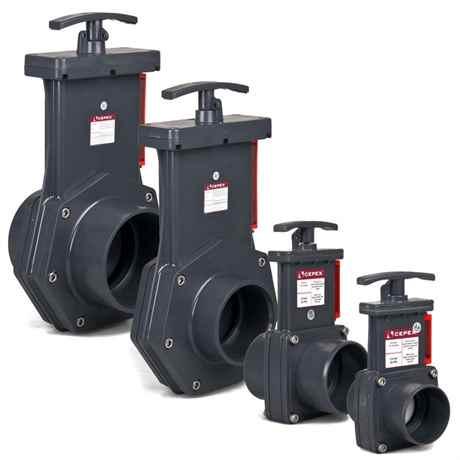 PVC Zugschieber von CEPEX 50, 63, 90 und 110 mm