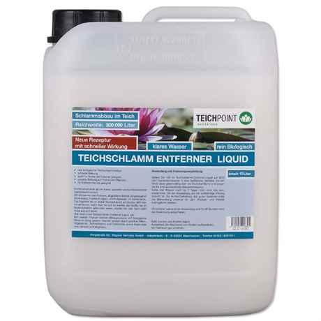 Teichschlamm entfernen mit dem TeichschlammEntferner Liquid von Teichpoint