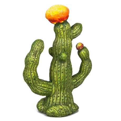 Terrarium Deko Kunstpflanze Kaktus U044 17 cm
