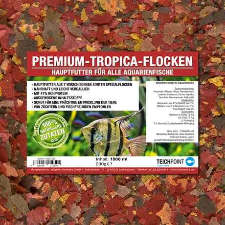 Tropica Flocken Hauptfutter - Flockenfutter für alle Aquarienfische