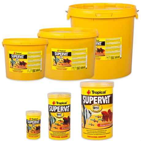 Tropical Supervit Premium Hauptfutter, Flockenfutter für alle Zierfische
