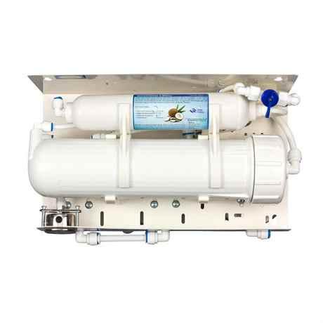 Die vier Filter Einsätze der Osmoseanlage Ultimate PLUS SuperFlow von Osmotech