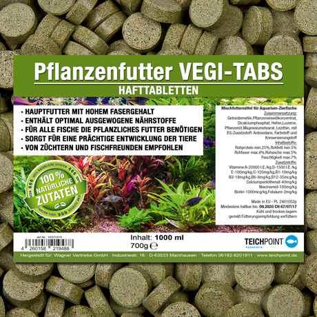 Teichpoint Hafttabletten Vegi-Tabs mit faserreichem Flanzenfutter