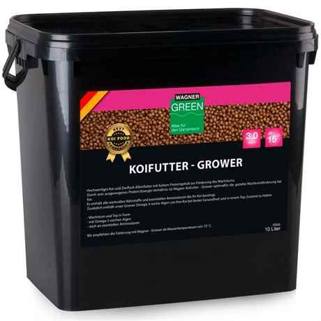 WAGNER Koifutter Grower 10 Liter 3 mm ab 15 Grad