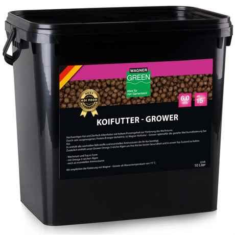 WAGNER Koifutter Grower 10 Liter 6 mm ab 15 Grad