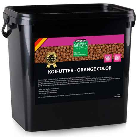 Wagner Koifutter Orange Color 10 Liter 6 mm ab 15 Grad