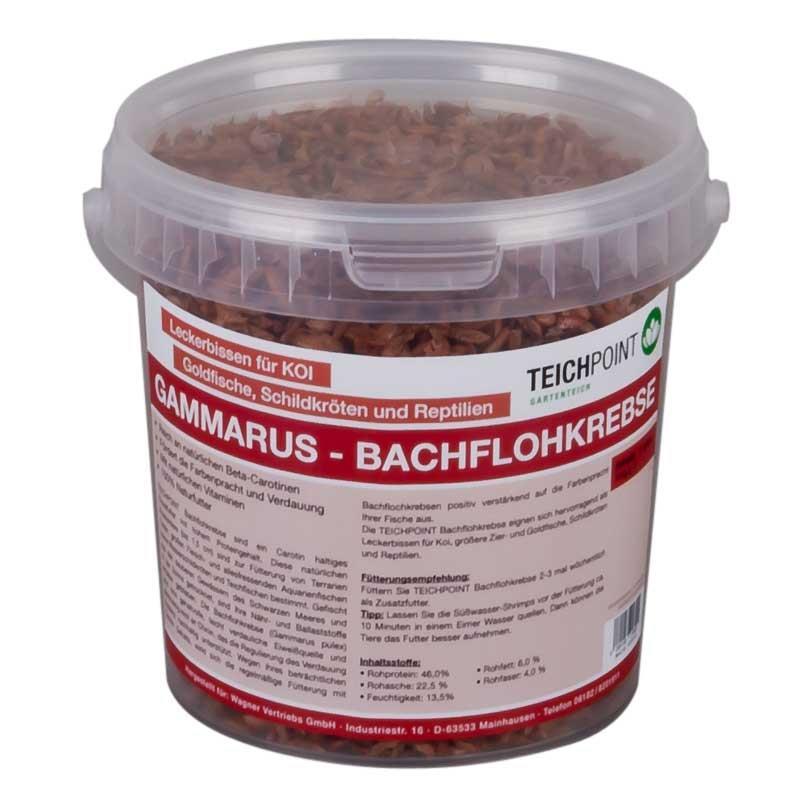 Teichpoint gammarus bachflohkrebse 1 liter 110g for Gartenteichfische shop