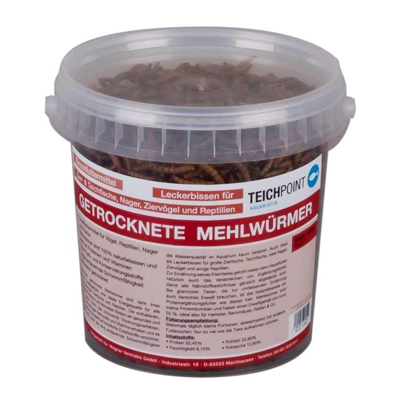 Teichpoint getrocknete mehlw rmer 1 liter 180g reich an for Teichfische shop