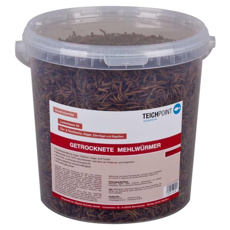 Teichpoint getrocknete mehlw rmer 5 liter 900g reich an for Teichfische shop