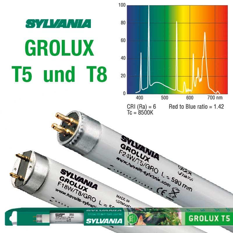 sylvania leuchtstoffrohren grolux t5 und t8 ab 4 90 kaufen bei teichpoint. Black Bedroom Furniture Sets. Home Design Ideas
