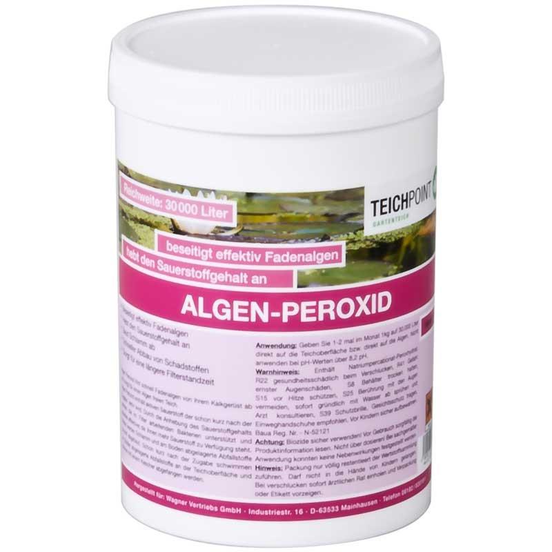 Teichpoint Algen Peroxyd 1 Kg Fadenalgenvernichter Fur 30000 Liter
