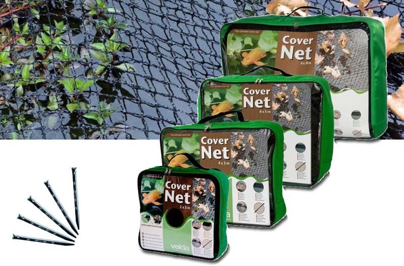Feinmaschiges und extra robustes Abdecknetz für Teiche - Laubschutznetz inkl. 10 Erdspieße